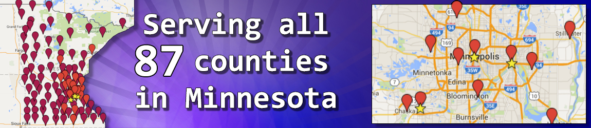 Serving all 87 counties in Minnesota