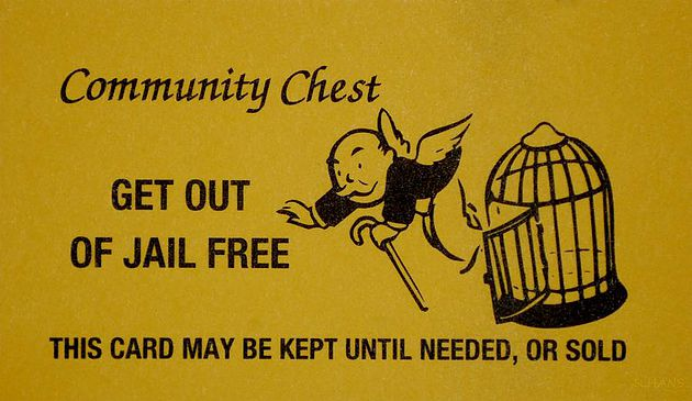 Community Chest: Get Out Of Jail Free Card